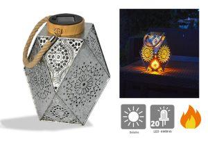 Lanterne solaire Leïa – Effet Flamme - AIC International