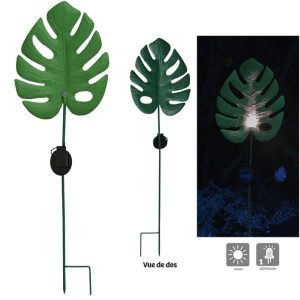 Feuille lumineuse solaire Monstera H90 cm - AIC International