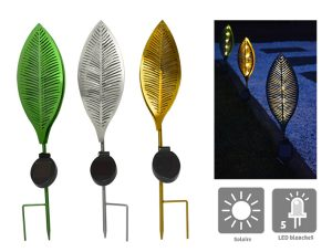 Feuille lumineuse solaire Pamela H50 cm - AIC International