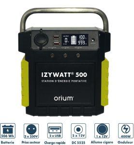 Rechargeable power station IZYWATT 500 - AIC International