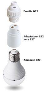 Lot 2 Adaptateurs B22-E27 - AIC International