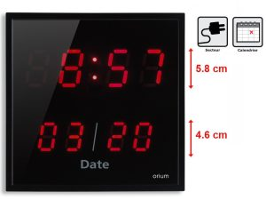 Horloge à date LED- rouge - AIC International