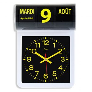 Horloge à date noire et jaune - AIC International