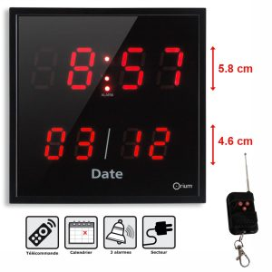 Clock 3 larms + remote control - AIC International