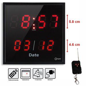 Clock 3 larms + remote control - AIC International