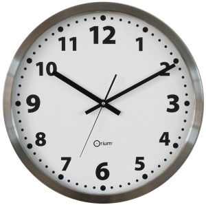 Inox basic clock  Ø45 cm - AIC International