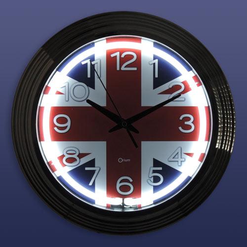 Horloge Chambre Ado : Horloge néon london Ø aic international