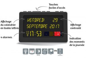 Horloge calendrier Référence