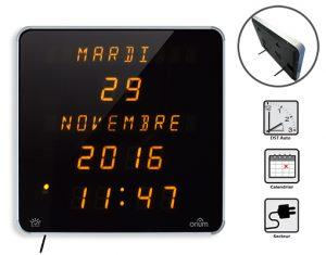 Horloge Ephéméris Jaune DST (EN)
