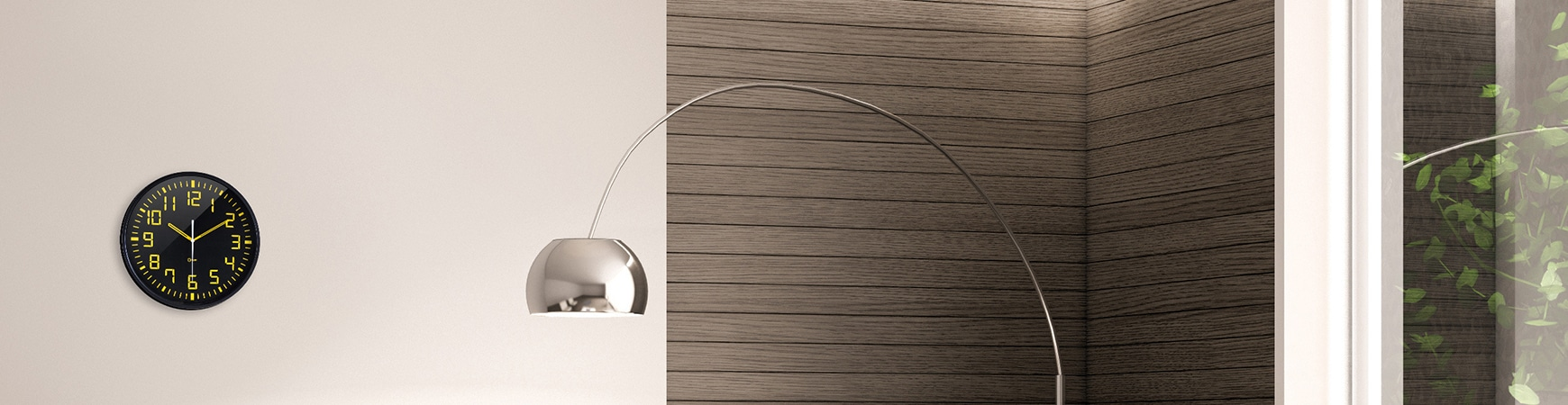 Pendule quartz silver Ø40 cm