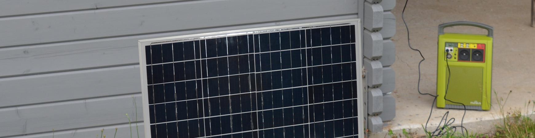 Batterie Autonome à Recharge Solaire 168Wh