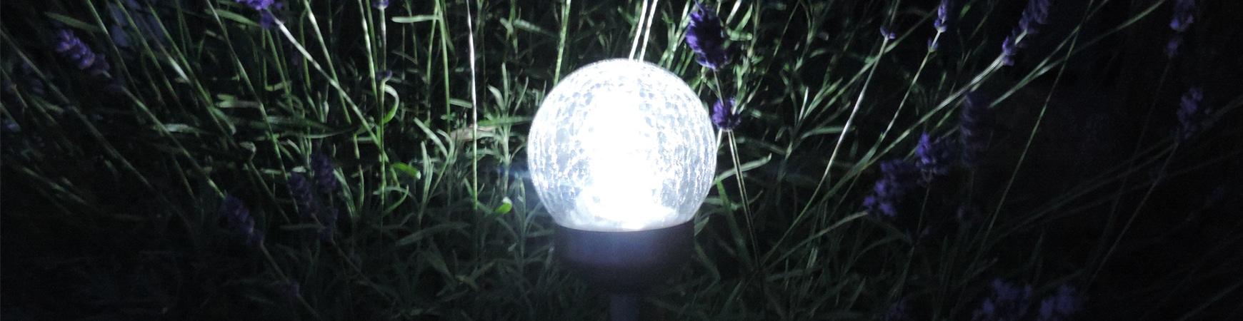 Set of 3 solar light – Changing color LED changing