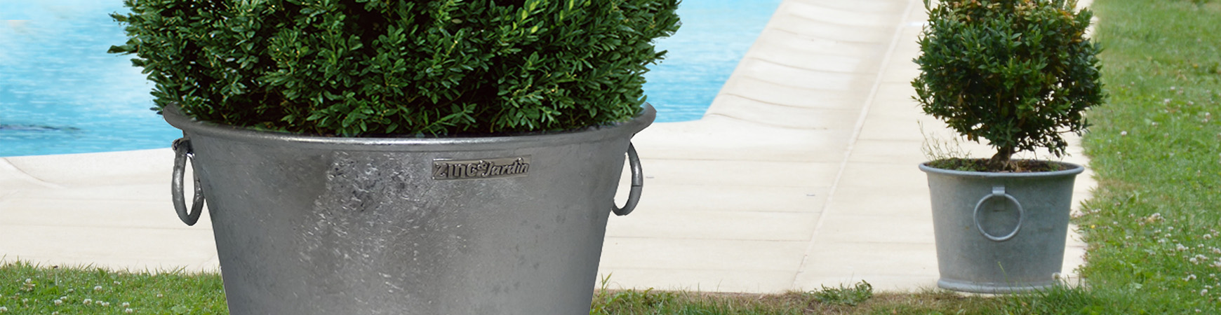 Galvanized flower pot N°2 13L