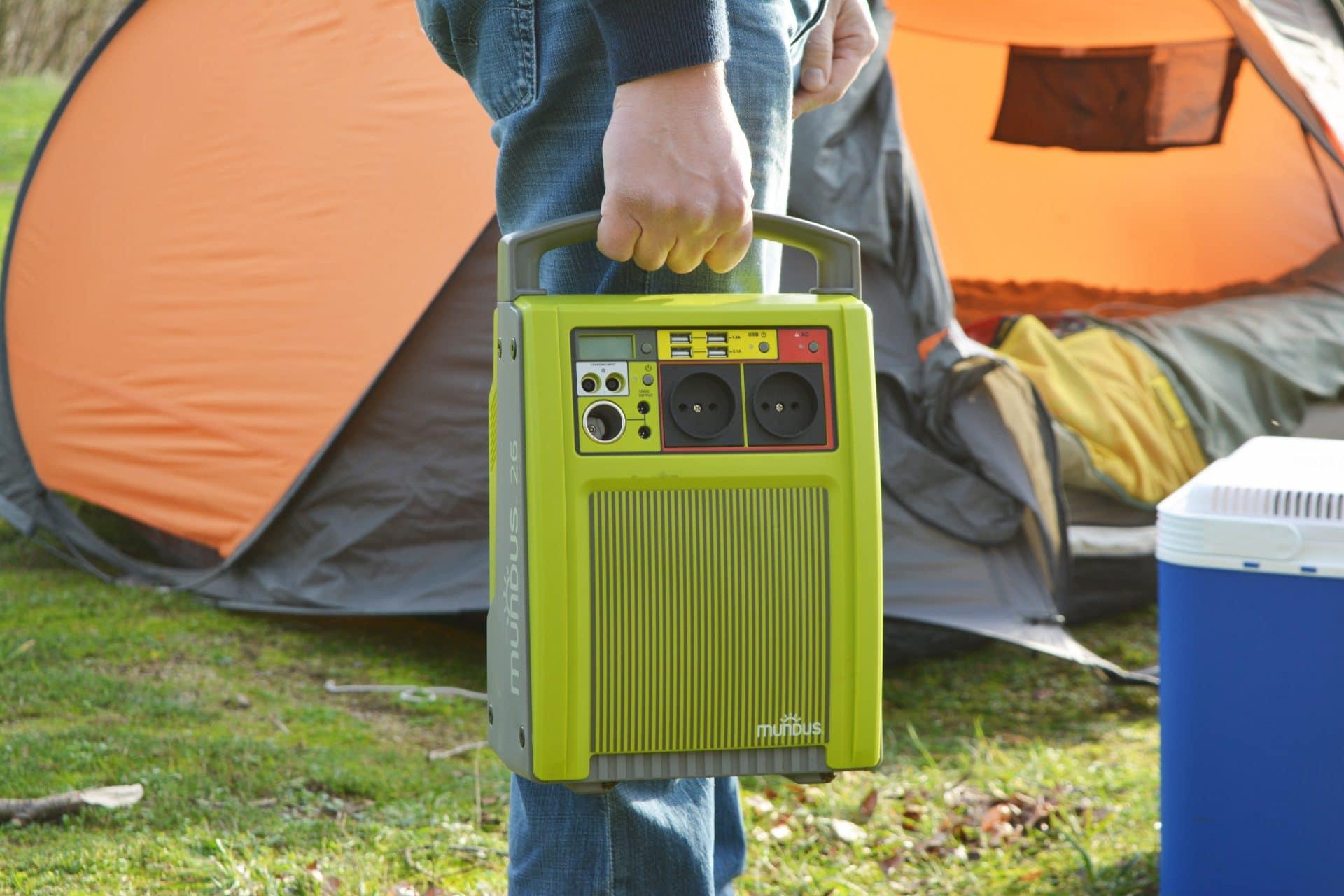 Pour avoir de l'électricité partout et pour les différents besoins, la solution : la Batterie Autonome à Recharge Solaire Mundus® !