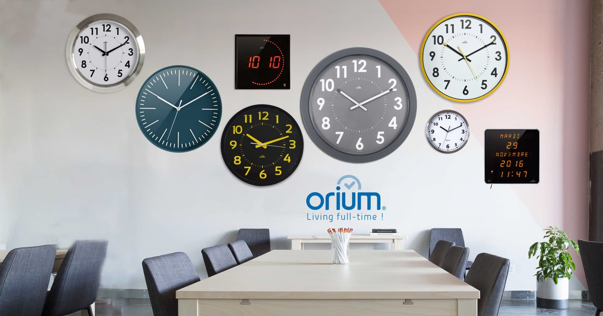 Office clocks : the ORIUM® solution !