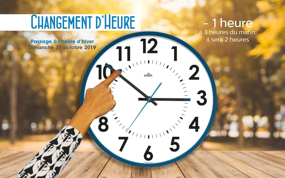 Changement d'heure : + 1 heure, – 1 heure??? La question que l'on se pose tous les 6 mois !