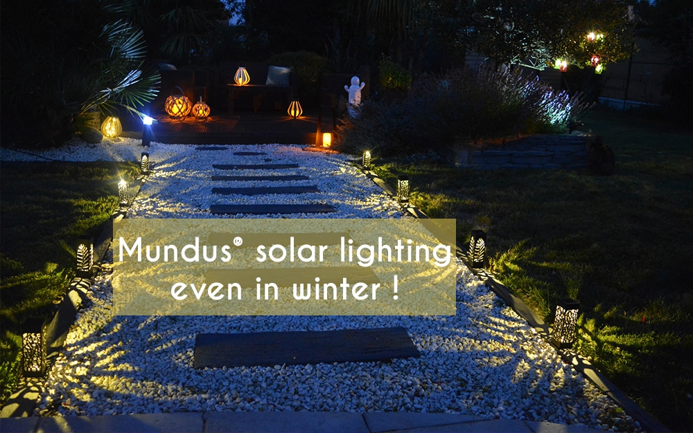 Changing the season, Mundus® solar lighting even in winter !
