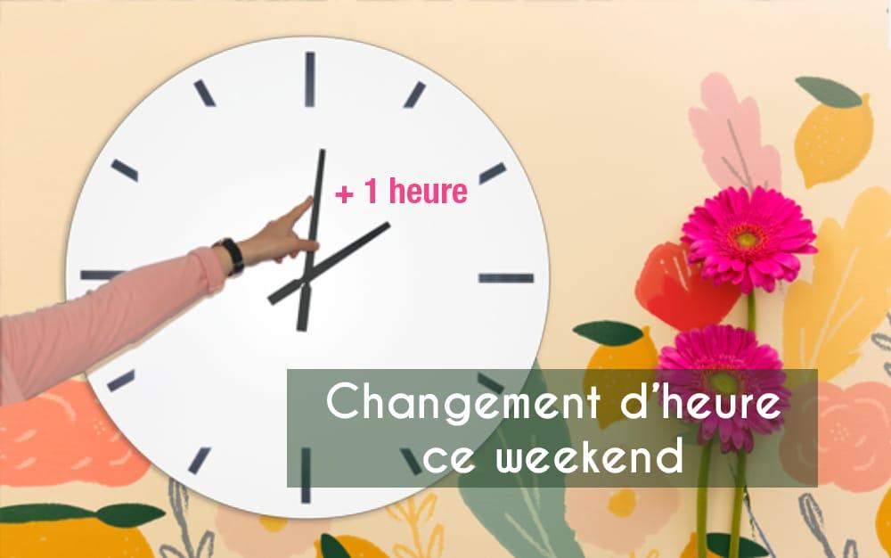 Changement d'heure ce week-end !