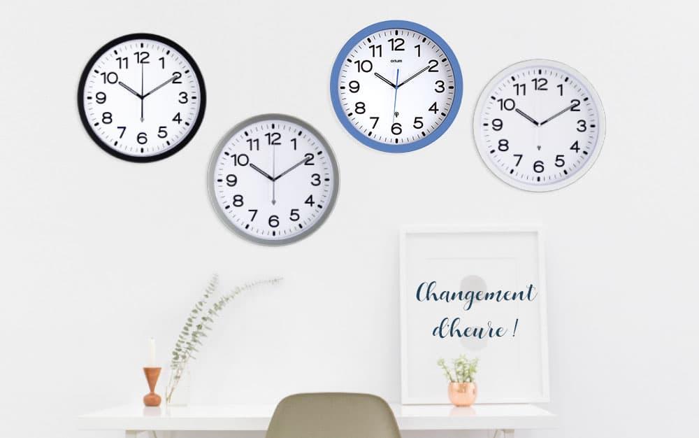 Changement d'heure, les horloges RC d'Orium® sont La Solution !