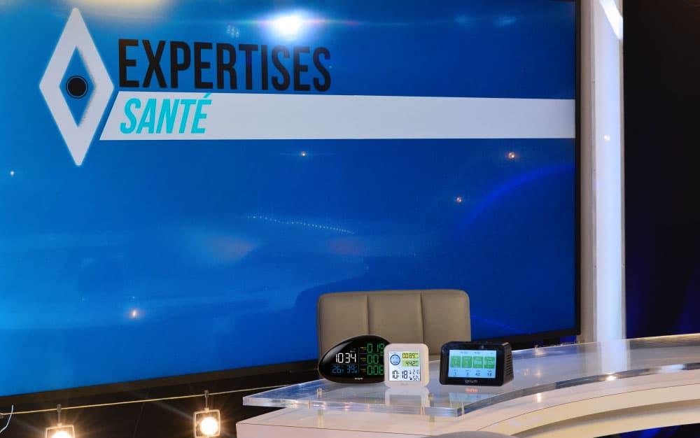 Nos mesureurs Quaelis sur les plateaux de l'émission Expertises Santé
